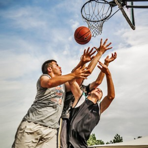 Street basketball players