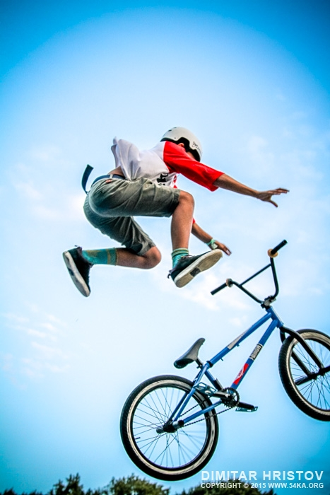 Young Boy Is Jumping With Bmx 54ka Photo Blog