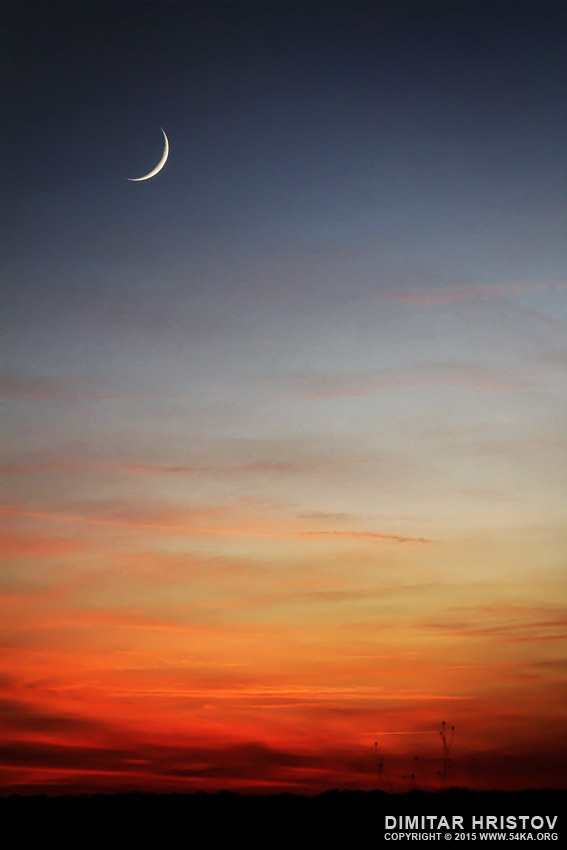 Moon sunset photography landscapes  Photo