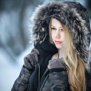 Beautiful girl winter portrait