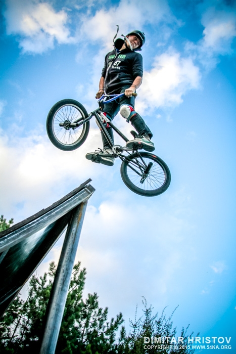 Freestyle bmx ramp jump photography extreme  Photo