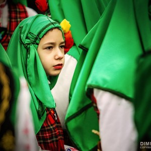 Kid in traditional folklore costume