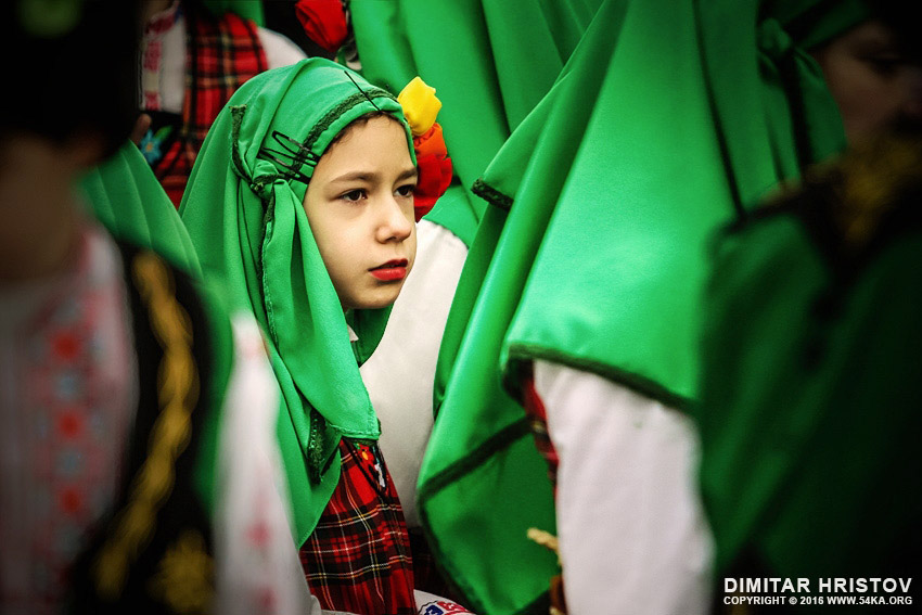 Kid in traditional folklore costume daily dose  Photo