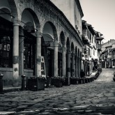 Old Street Of Veliko Tarnovo – Black and White urban photography