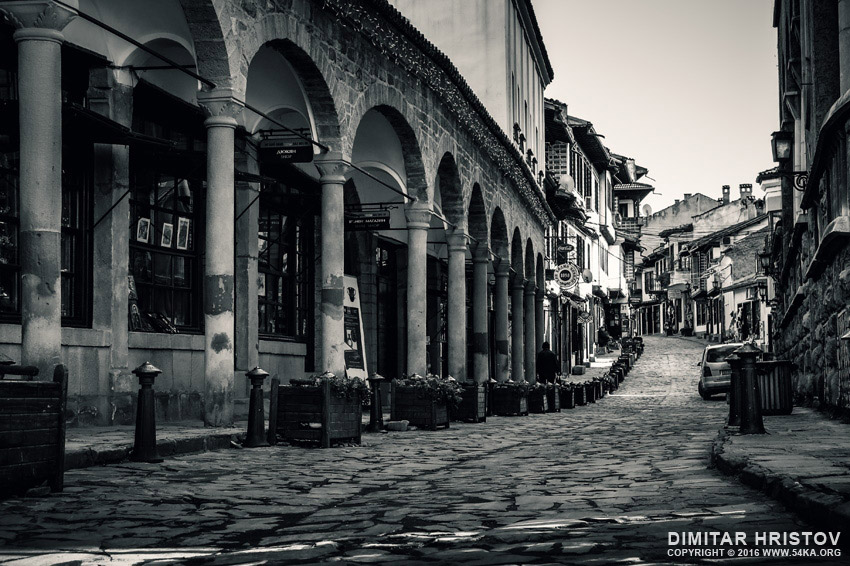 Old Street Of Veliko Tarnovo   Black and White urban photography photography urban top rated featured black and white  Photo