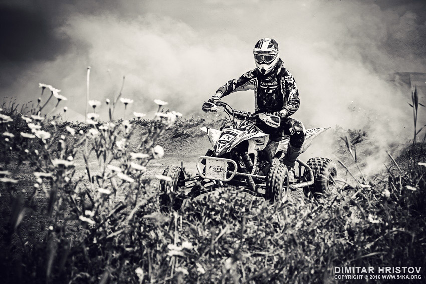 ATV 4x4 Flat track racing OffRoad action photography other featured extreme black and white  Photo
