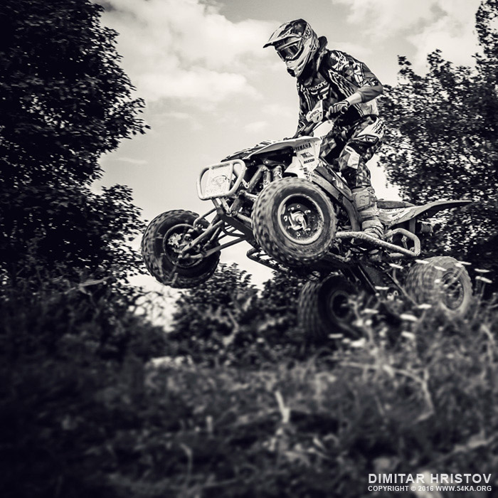 ATV 4x4 quad cross jumping photography featured extreme black and white  Photo