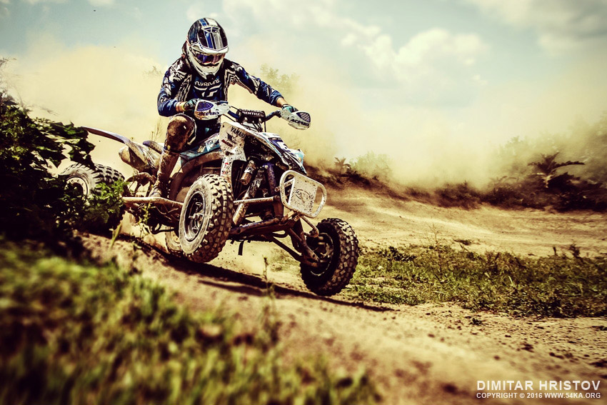 ATV 4x4 Rider in the action photography other extreme  Photo