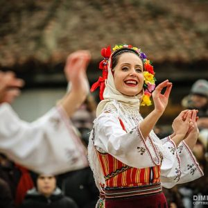 Bulgarian folklore dancers