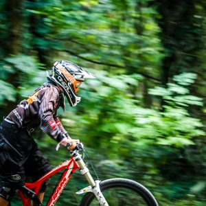 Rider in action – mountain bike