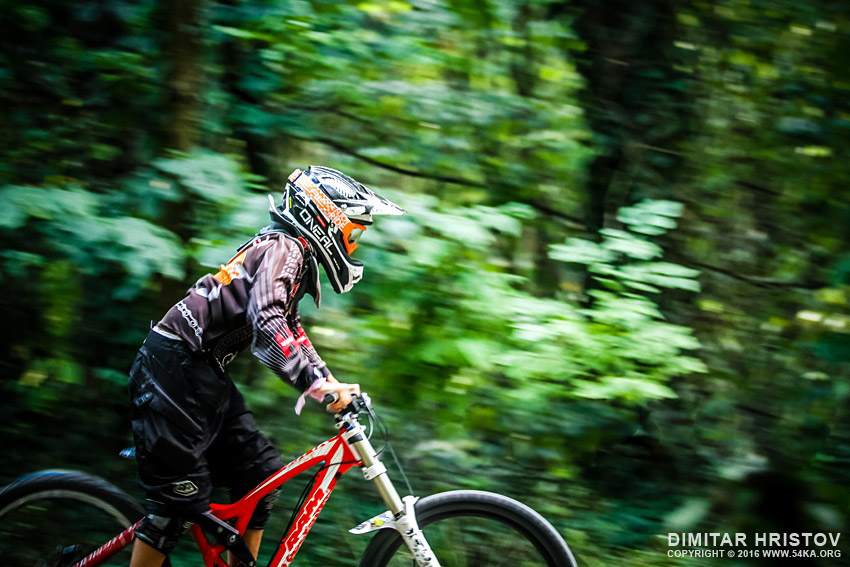 Rider in action   mountain bike photography extreme  Photo