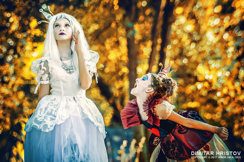 The White Queen and The Angry Queen of Hearts – Alice in Wonderland photography other featured fashion  Photo