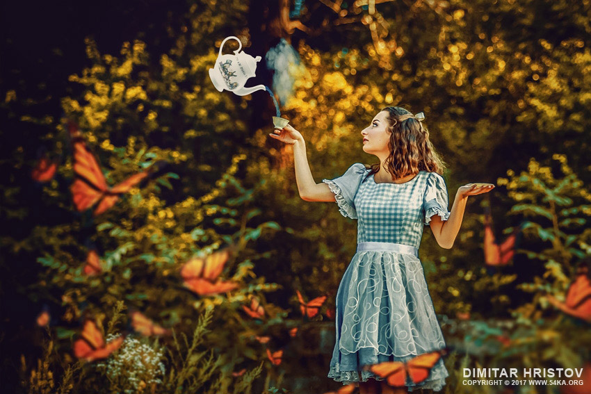 Alice and the kettle   Alice in wonderland photography photomanipulation other  Photo