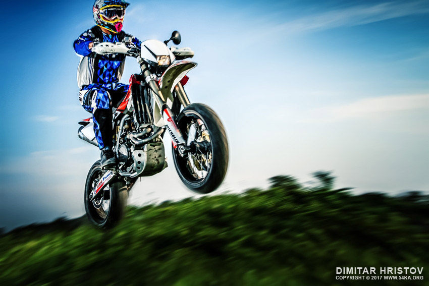 Motorbike jump in the air daily dose  Photo