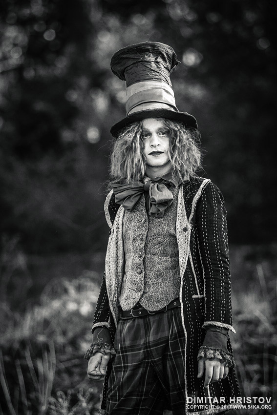 The Hatter – Alice in Wonderland photography portraits featured black and white  Photo