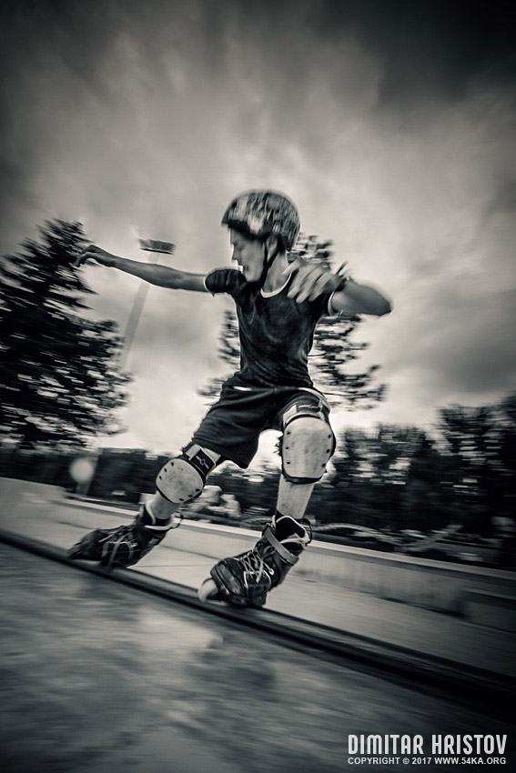 Extreme rollerblades photography extreme black and white  Photo