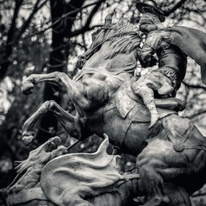 Statue of St. George killing the Dragon