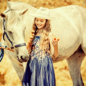 Cute Girl and Horse – Charming Portrait