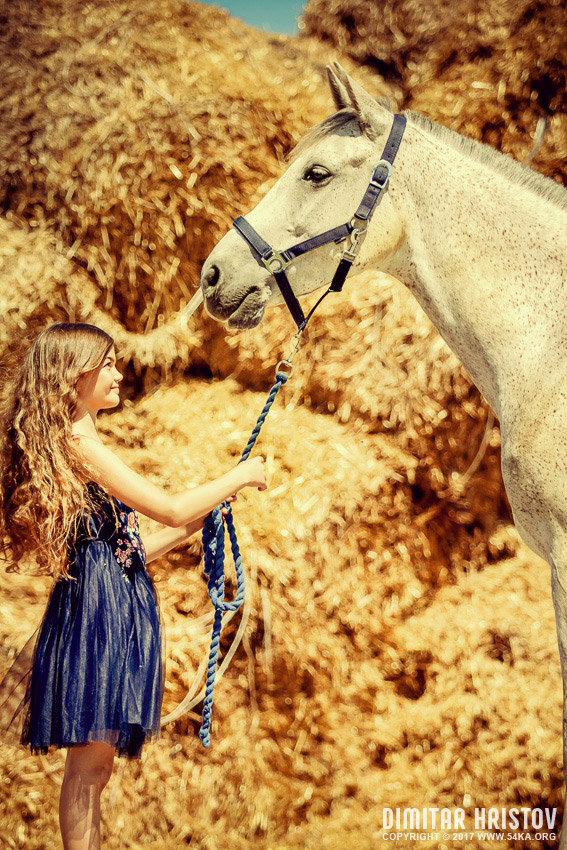 Cute Girl With Beautiful White Horse 54ka Photo Blog