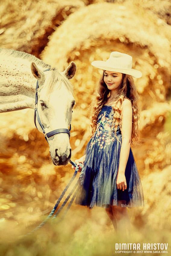 Cute Girl With Beautiful White Horse By Ka