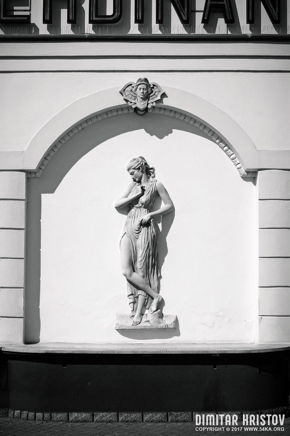 Sculpture in the wall photography urban black and white  Photo