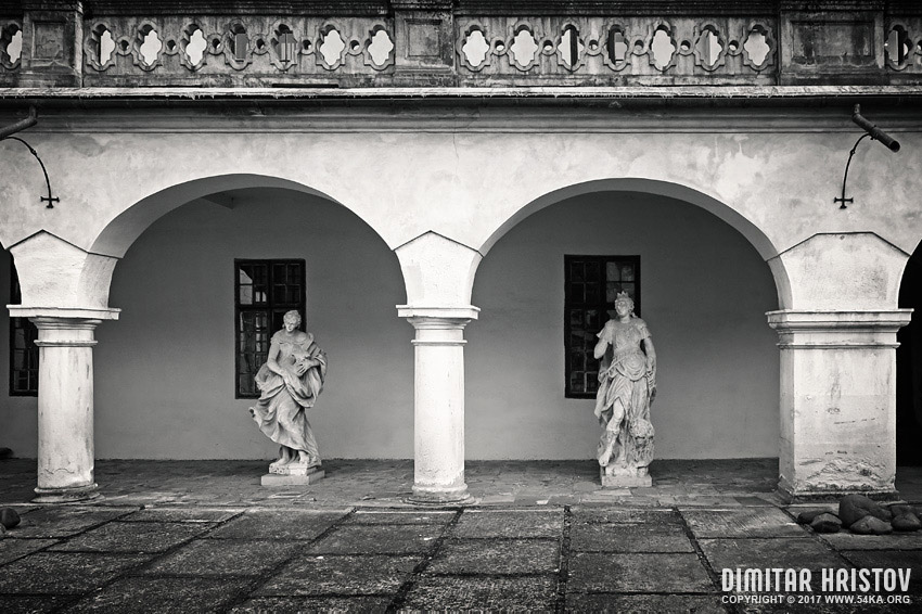 The manor house in Humenne, Slovakia   Inner courtyard photography urban black and white  Photo