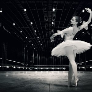 Ballerina – Beautiful pose on the stage