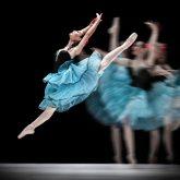 Blue dress dance
