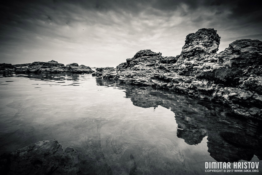 Rocks in The Water photography landscapes black and white  Photo