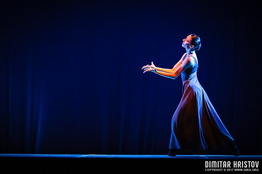 The beautiful ballerina dancing in blue long dress photography other featured  Photo