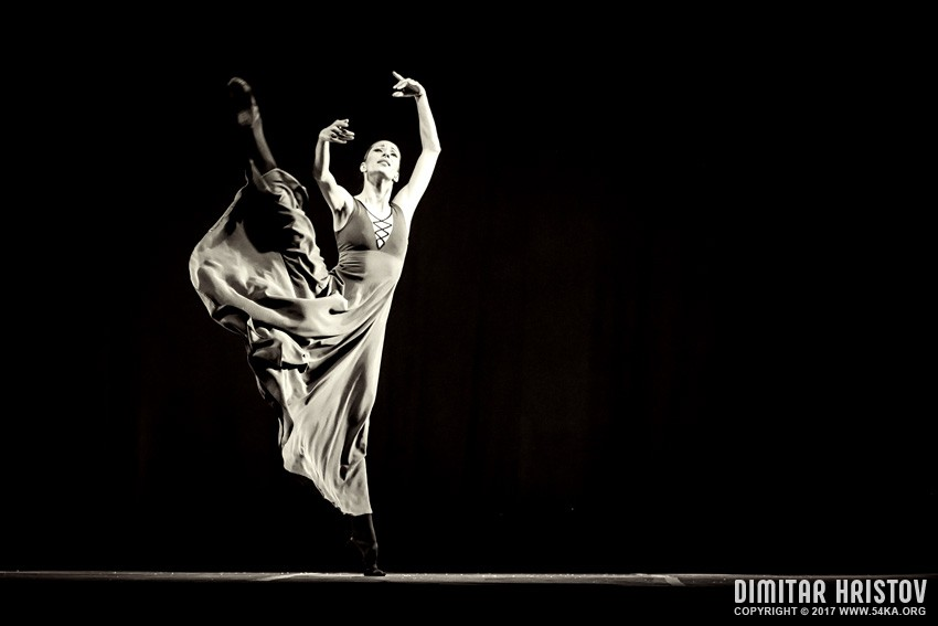 The beautiful ballerina dancing in long dress photography other black and white  Photo