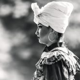 Colombian woman with traditional dress