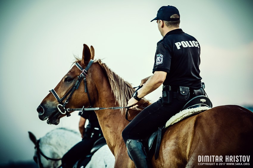 Police Officers Riding Horses On The Beach 54ka Photo Blog