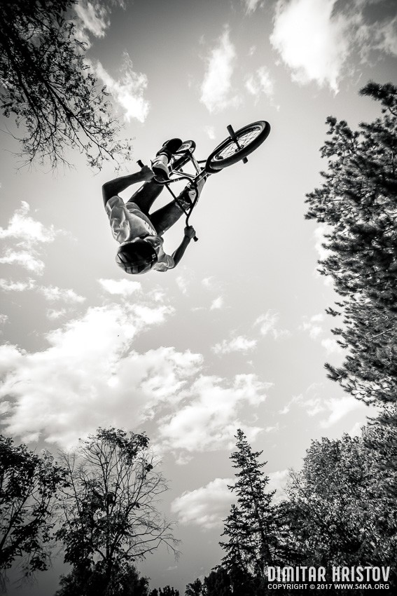 BMX Salto photography sport extreme black and white  Photo