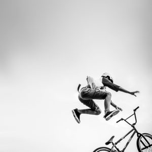 Extreme BMX – Minimalist Black and White