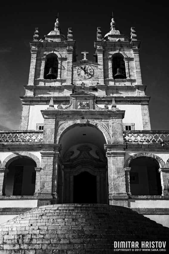 Nazare Portugal – Church of Nossa Senhora  Black and White photography urban daily dose black and white  Photo