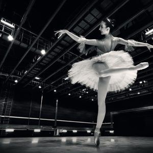Ballerina in the white tutu