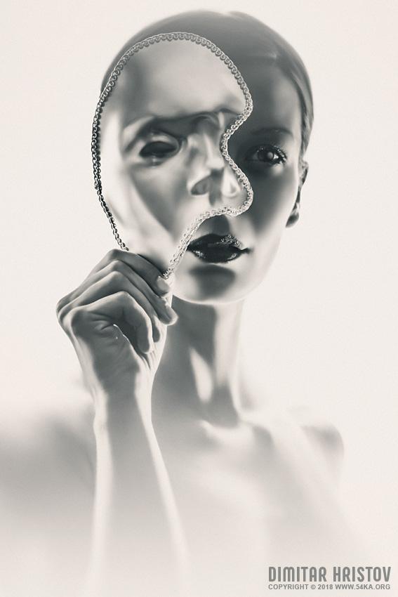 Silver Face   Eye Mask photography venetian eye mask portraits featured fashion  Photo