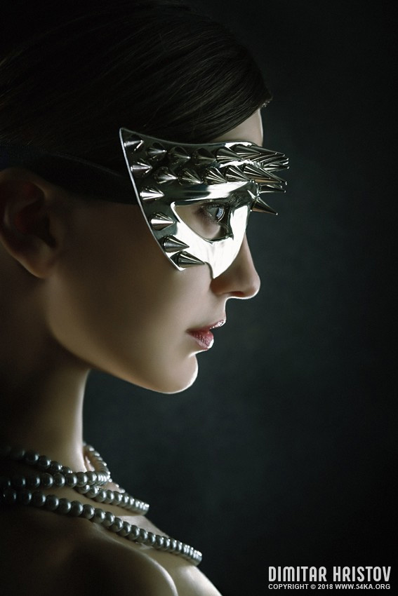 Silver Spike Beauty Mask photography portraits featured fashion  Photo