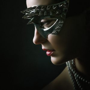 Silver Spike Eye Mask