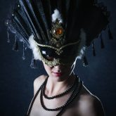 Woman With Beautiful Carnival Mask