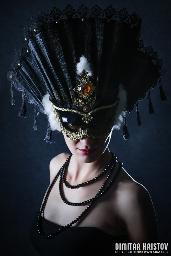 Woman With Beautiful Carnival Mask photography portraits featured fashion  Photo