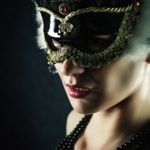 Carnival Mask – Closeup Girl Portrait