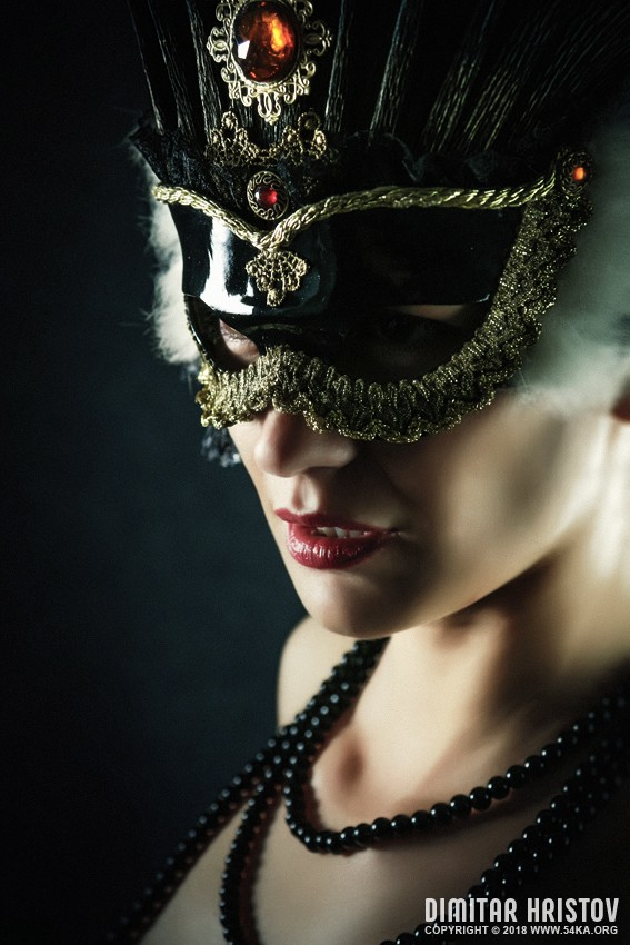 Carnival Mask   Closeup Girl Portrait photography venetian eye mask fashion  Photo
