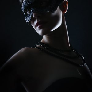 Mysterious Woman With Black Mask