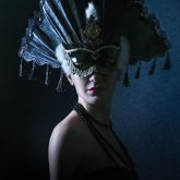 Beautiful Girl With Venetian Carnival Mask