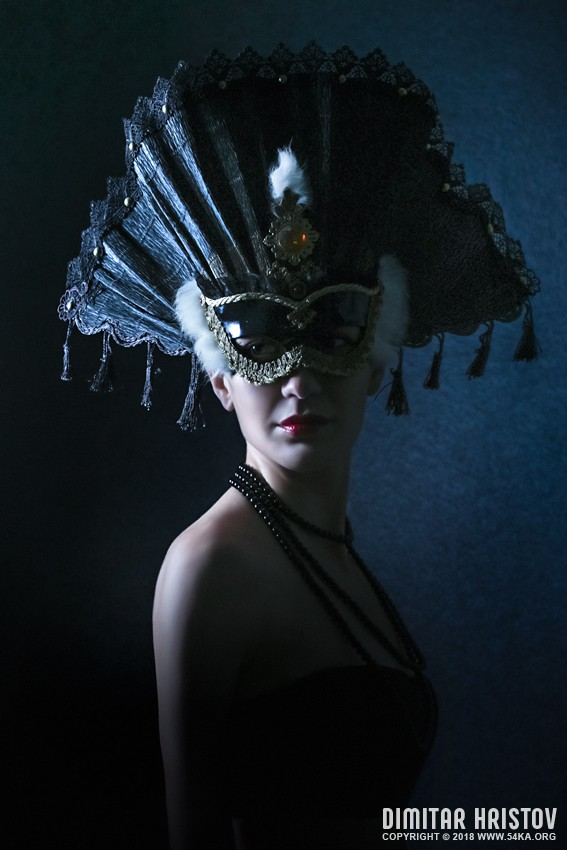 Beautiful Girl With Venetian Carnival Mask photography portraits fashion  Photo