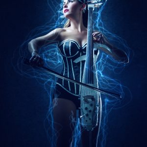 Playing Cello – Fashion Music Portrait
