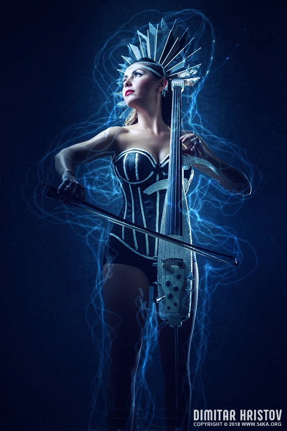 Playing Cello   Fashion Music Portrait photography portraits photomanipulation featured fashion  Photo