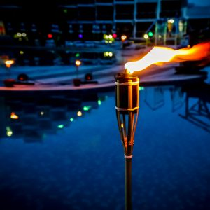 Torch On The Pool